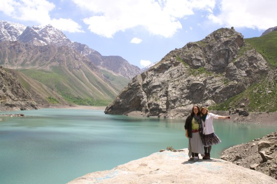 My friend Shannon and I during a trip to the Seven Lakes in northern Tajikistan