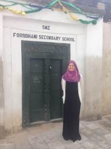 The Forodhani School where I am teaching Chemistry.