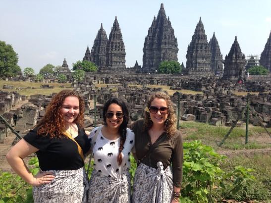 At the Prambanan Hindu Temple.