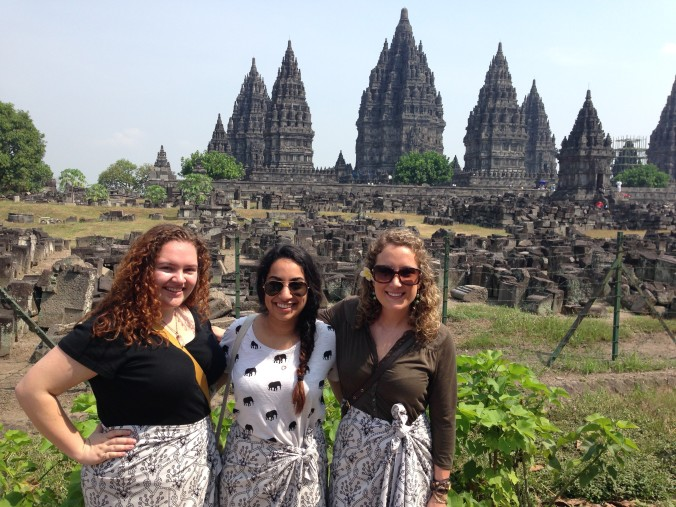 At the Prambanan Hindu Temple.