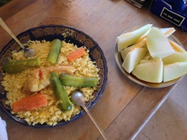 A delicious Moroccan meal - Chicken Couscous.