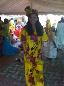 I chose to wear the traditional clothing style to the wedding.