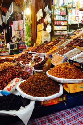 Roaming around Fez looking at these tasty sweets!