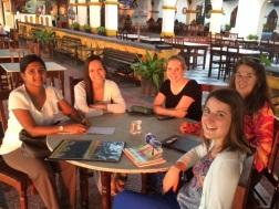 In the evening glow of a seaside sunset, AUA Zanzibar Volunteers reflect on their week's work.