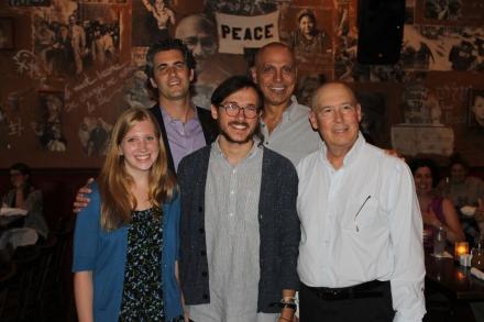 Unofficial ambassador Katrina Marks, Director Ben Orbach, unofficial ambassador Rob Handerhan, Andy Shallal, President Bill Kruvant