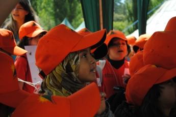 Moroccan summer camp little girl